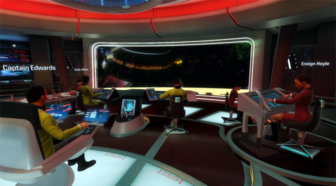 Original Enterprise Bridge Added To Star Trek VR Game