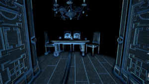 Okay, this is creepy. So we can hear the ghost kids at the table?