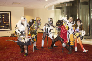 A really good Overwatch cosplay group.