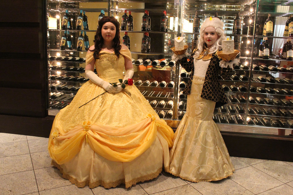 Be our guest! No really, the pleasure is all ours watching Belle and Lumiere from Beauty and the Beast.