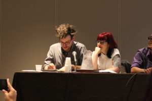Matt Fraction and Kelly Sue Deconnick, both well known comic authors, wowed fans with their insights and autographs.