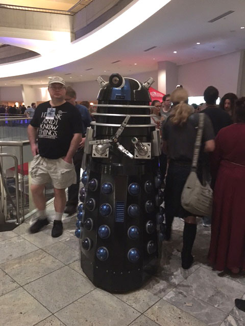 A fully mobile Dalek, which was a little frightening.
