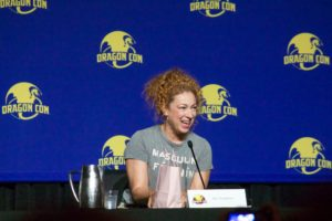 Alex Kingston, River Song from Doctor Who, was one of many visiting celebrities.