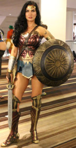 We wanted to show off some of the variations in costumes. Here is the new Wonder Woman in battle gear.