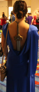 And here is Diana Prince, incorporating here sword into her wardrobe from the same movie.