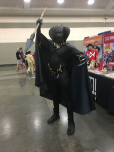 Characters from The Black Panther were extremely popular at Baltimore Comic-Con this year, as this purrefct fan proves.