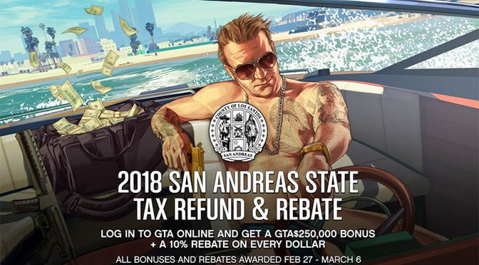 Rockstar Offers GTA Online Players 250K San Andreas Tax Refund
