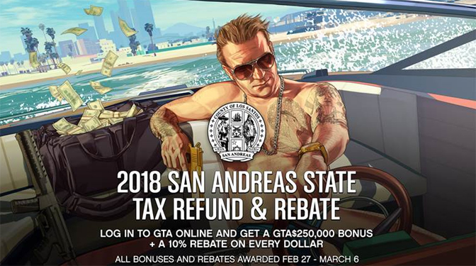 Tax Refunds in Grand Theft Auto Online Announced